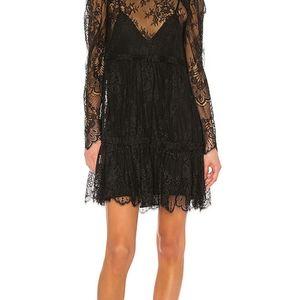Grlfrnd Reese Lace Mini Dress size M